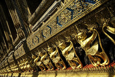 Van de tempel boeddhistisch Bangkok de architectuurart. van Thailand royalty-vrije stock afbeelding