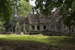 Van de tempelangkor van Preahkahn het Archeologische Park, Kambodja Royalty-vrije Stock Foto