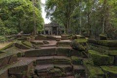 Van de tempelangkor van Preahkahn het Archeologische Park, Kambodja Royalty-vrije Stock Afbeelding
