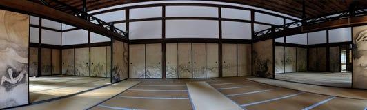 Van de tempelkuri van Kyoto het hoofdgebouwbinnenland royalty-vrije stock foto
