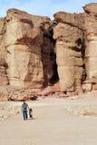 Van de Timnapark en Koning de Mijnen van Solomon - Israël Royalty-vrije Stock Fotografie
