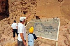 Van de Timnapark en Koning de Mijnen van Solomon - Israël Stock Foto