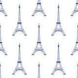 Van de torenparijs van Eiffel naadloze het patroonachtergrond Stock Foto