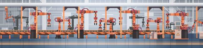 Van de de Transportband Automatisch Lopende band van de fabrieksproductie van de de Machines Industrieel Automatisering de Indust stock illustratie