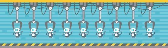 Van de de Transportband Automatische Assemblage van de robotsproductie Industrie van de de Machines Industriële Automatisering royalty-vrije illustratie