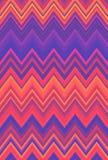 Van de ultraviolette van het de zigzagpatroon neonchevron de abstracte achtergrond, Ultraviolette purpere kleurentendensen stock illustratie