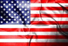 Van de V.S., Amerika, Verenigde het land van het vlagsymbool nationale patriottische textiel als achtergrond stock afbeelding