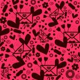 Romantisch naadloos patroon Stock Afbeeldingen