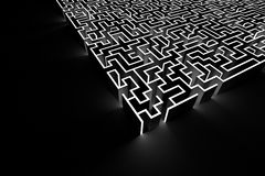Van de van het labyrint achtergrond, risico en oplossing illustratieconcepten Stock Foto