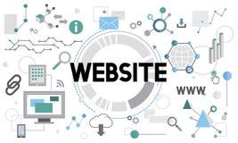 Van de Verbindingsinternet van websiteconnetion InterWebsite van het de Technologienetwerk van de het Concepten netto Technologie stock illustratie