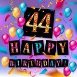 44 van de verjaardags vectorjaar illustratie Royalty-vrije Stock Afbeeldingen