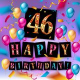46 van de verjaardags vectorjaar illustratie Royalty-vrije Stock Fotografie