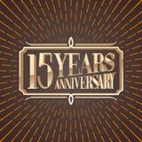 15 van de verjaardags vectorjaar illustratie, pictogram, embleem Stock Foto