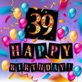 39 van de Verjaardagsjaar Viering Stock Fotografie