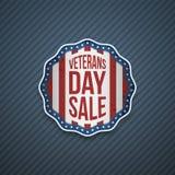 Van de de Verkoopv.s. van de veteranendag het patriottische Embleem stock illustratie