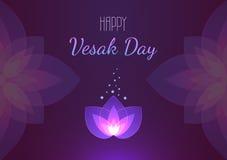Van de Vesakdag horizontale banner als achtergrond Vector groetkaart Stock Afbeeldingen