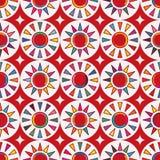 Van de vlag abstract Japan van Taiwan rood de zon naadloos patroon Stock Afbeelding