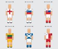 Van de vlageuropa van de voetbalvoetbalster eenvormige het pictogramgroep F Royalty-vrije Stock Afbeelding