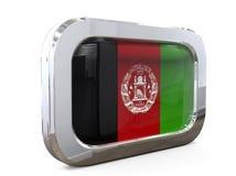 Van de de Vlagknoop van Afghanistan 3D Illustratie Royalty-vrije Stock Fotografie