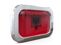 Van de de Vlagknoop van Albanië 3D Illustratie Stock Afbeelding