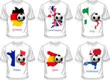 Van de voetbal (voetbal) t-shirt de reeks Royalty-vrije Stock Fotografie