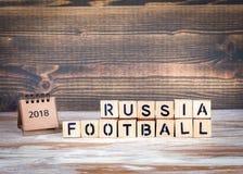 Van de de Voetbal 2018 wereld van Rusland het kampioenschapskop, voetbal Stock Foto