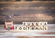 Van de de Voetbal 2018 wereld van Rusland het kampioenschapskop, voetbal Royalty-vrije Stock Foto
