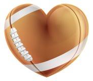 Van de de Voetbalbal van de hartvorm Amerikaans de Liefdeconcept royalty-vrije illustratie
