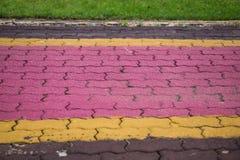 Van de voetpadkleur en vorm het baksteenblok cemen cementtextuur backg Stock Afbeeldingen
