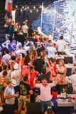 Van de Vooravondnieuwjaren partij in Pattaya Stock Afbeelding