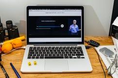 Van de voorproevenmacos van Apple Craig Federighi de Hoge Siërra bij WWDC 2017 Royalty-vrije Stock Fotografie