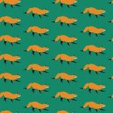 Van de vos vectorkunst ontwerp als achtergrond voor stof en decor royalty-vrije illustratie
