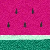 Van de watermeloenzomer abstract ontwerp als achtergrond Stock Afbeelding