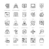 Van de Webontwerp en Ontwikkeling Vectorpictogrammen 12 stock illustratie