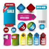 Van de Webverkoop of korting banner voor Web Stock Afbeeldingen