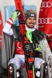Van de Wereldbekermensen van Audi FIS de ceremonie van de de Slalomtoekenning stock foto