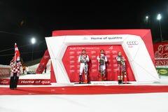 Van de Wereldbekermensen van Audi FIS de ceremonie van de de Slalomtoekenning royalty-vrije stock afbeelding