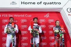Van de Wereldbekermensen van Audi FIS de ceremonie van de de Slalomtoekenning royalty-vrije stock foto's
