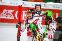 Van de Wereldbekermensen van Audi FIS de Slalom Tweede looppas royalty-vrije stock afbeeldingen