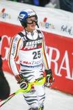Van de Wereldbekermensen van Audi FIS de Slalom Tweede looppas stock foto's