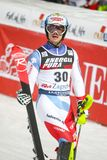 Van de Wereldbekermensen van Audi FIS de Slalom Tweede looppas royalty-vrije stock foto's