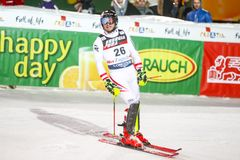 Van de Wereldbekermensen van Audi FIS de Slalom Tweede looppas royalty-vrije stock foto