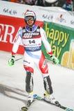 Van de Wereldbekermensen van Audi FIS de Slalom Tweede looppas stock afbeelding