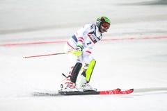 Van de Wereldbekermensen van Audi FIS de Slalom Tweede looppas royalty-vrije stock fotografie