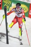 Van de Wereldbekermensen van Audi FIS de Slalom Tweede looppas stock foto