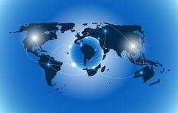 Van de wereldkaart vectorillustratie als achtergrond stock illustratie