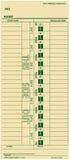 Van de werknemers wekelijkse lonen van Imecard de tijdkaart timeclock stock illustratie
