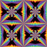 Van de de wervelingssymmetrie van de regenbooglaag het naadloze patroon royalty-vrije illustratie