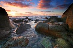 Van de West- vallei van de wieg Cornwall bij zonsondergang Stock Afbeeldingen