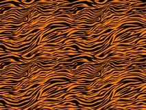 Van de de wildernistijger van streepdieren van de het bonttextuur het patroon naadloze herhalende oranjegele zwarte Royalty-vrije Stock Fotografie